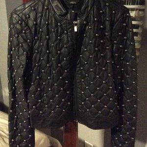 Rare! Bebe bulk faux leather stud jacket